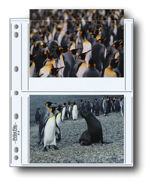 """Print File 57-4P Archival Storage Page for 4 Prints- 5 x 7"""", 25-Pack"""