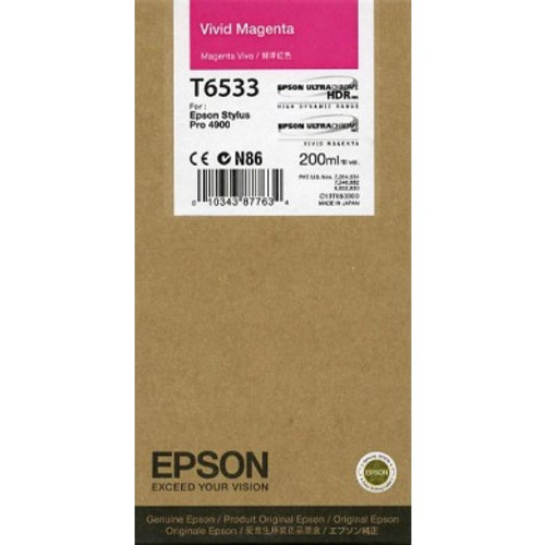 Epson Ultrachrome HDR Ink Cartridge 200 ml- Vivid Magenta