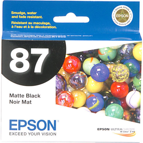 Epson 87 Ink Cartridge- Matte Black