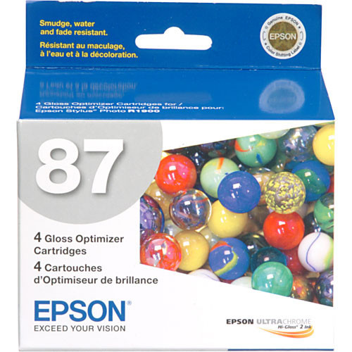 Epson 87 Gloss Optimizer Ink Cartridge- 4-Pack
