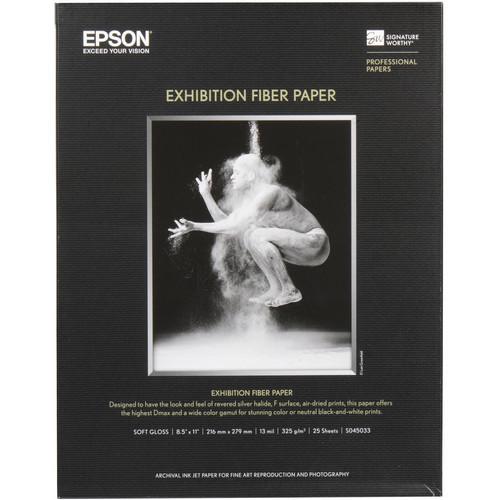 """Epson Exhibition Fiber Paper- 8.5 x 11"""", 25 Sheets"""