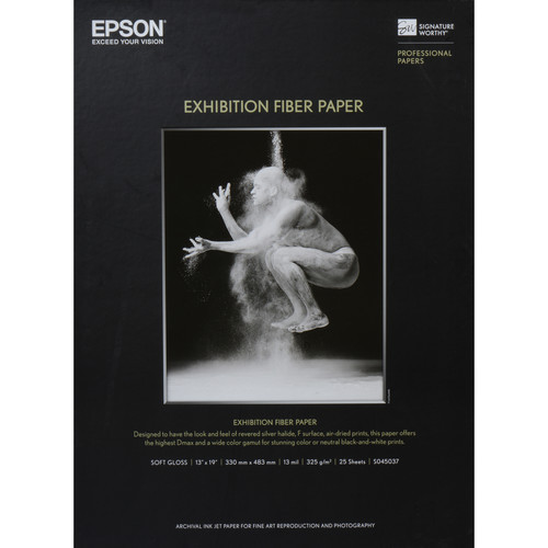 "Epson Exhibition Fiber Paper- 13 x 19"", 25 Sheets"