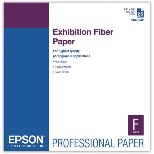 """Epson Exhibition Fiber Paper- 24 x 30"""", 25 Sheets"""