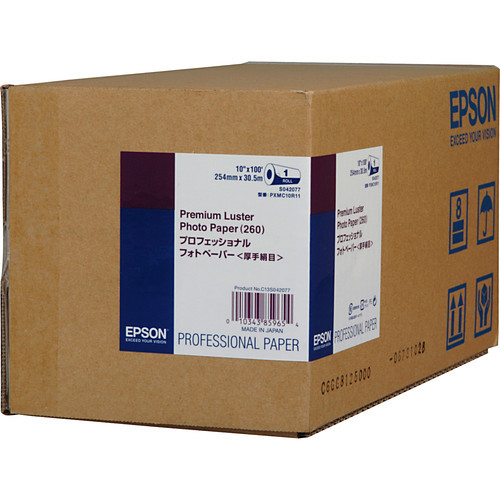 "Epson Premium Luster Photo Inkjet Paper- 10"" x 100' Roll"