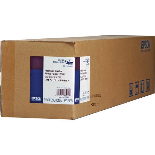 "Epson Premium Luster Photo Inkjet Paper- 24"" x 100' Roll"