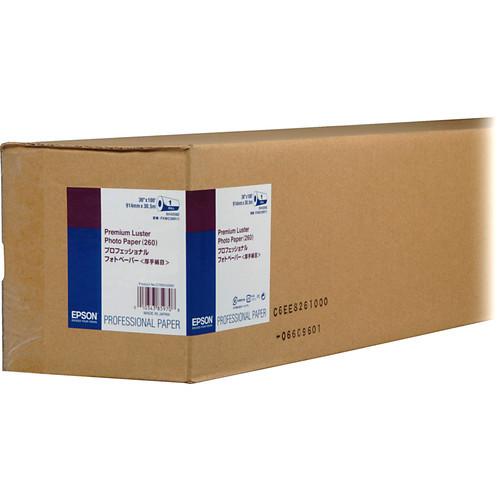 "Epson Premium Luster Photo Inkjet Paper- 36"" x 100' Roll"