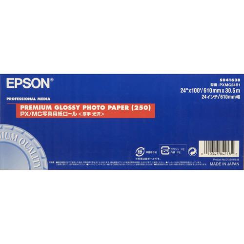 "Epson Premium Glossy 250 Photo Inkjet Paper- 24"" x 100' Roll"