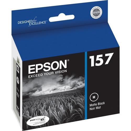 Epson T157 UltraChrome K3 Ink Cartridge- Matte Black