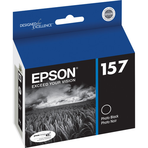 Epson T157 UltraChrome K3 Ink Cartridge- Photo Black