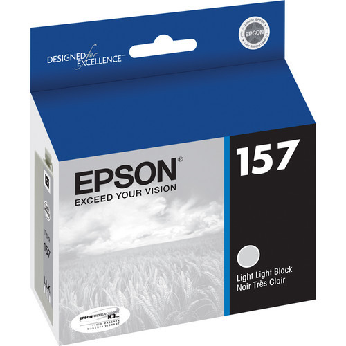 Epson T157 UltraChrome K3 Ink Cartridge- Light Light Black
