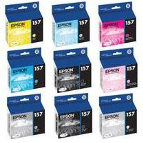 Epson T157 UltraChrome K3 Ink Cartridge- Yellow