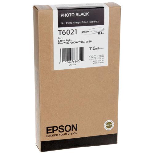 Epson T602 UltraChrome K3 Ink Cartridge 110ml- Photo Black
