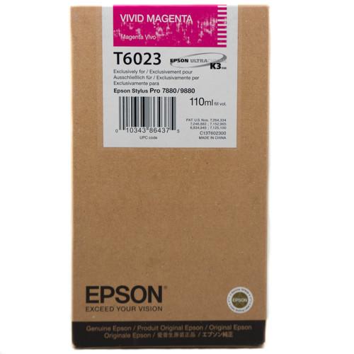 Epson T602 UltraChrome K3 Ink Cartridge 110ml- Vivid Magenta