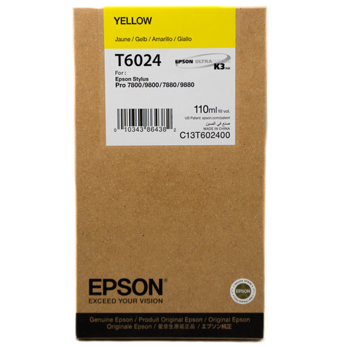 Epson T602 UltraChrome K3 Ink Cartridge 110ml- Yellow