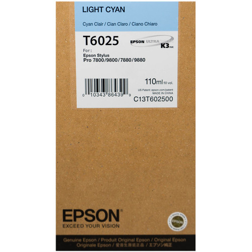 Epson T602 UltraChrome K3 Ink Cartridge 110ml- Light Cyan