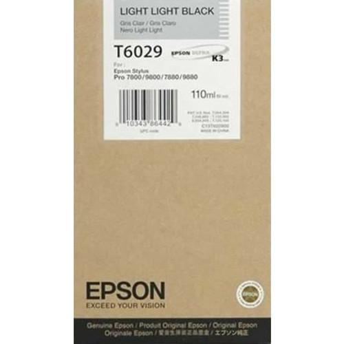 Epson T602 UltraChrome K3 Ink Cartridge 110ml- Light Light Black