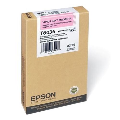 Epson T603 UltraChrome K3 Ink Cartridge 220ml- Vivid Light Magenta