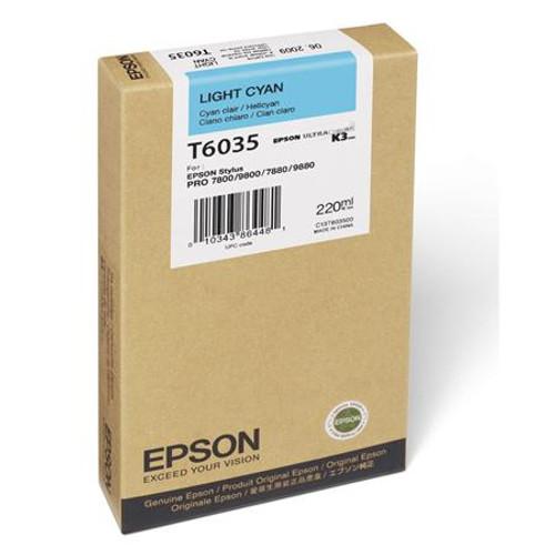 Epson T603 UltraChrome K3 Ink Cartridge 220ml- Light Cyan
