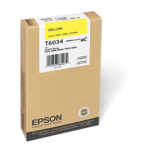 Epson T603 UltraChrome K3 Ink Cartridge 220ml- Yellow