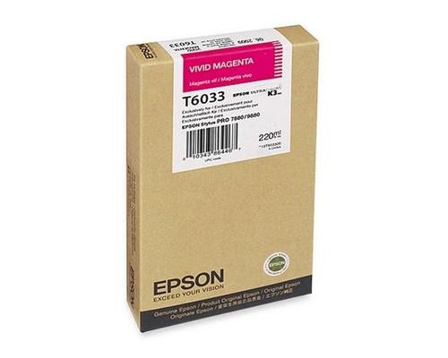 Epson T603 UltraChrome K3 Ink Cartridge 220ml- Vivid Magenta