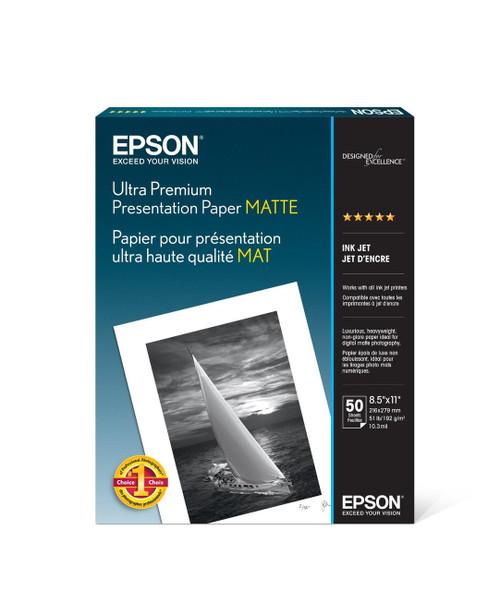 "Epson Ultra Premium Presentation Paper Matte- 8.5 x 11"", 50 Sheets"