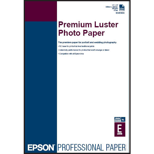 "Epson Ultra Premium Photo Paper Luster- 13 x 19"", 100 Sheets"