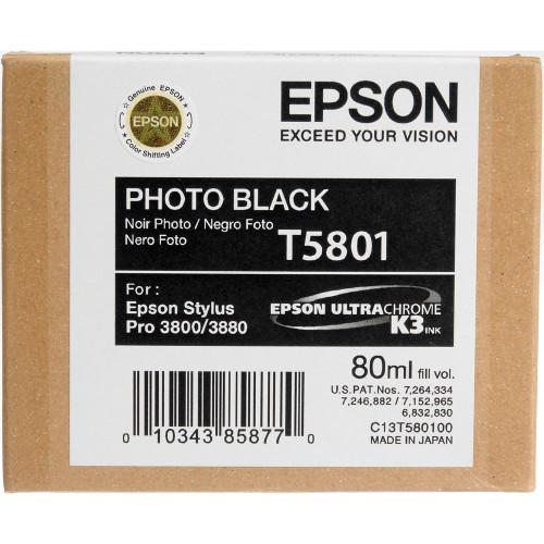 Epson T580 UltraChrome K3 Ink Cartridge 80ml- Photo Black