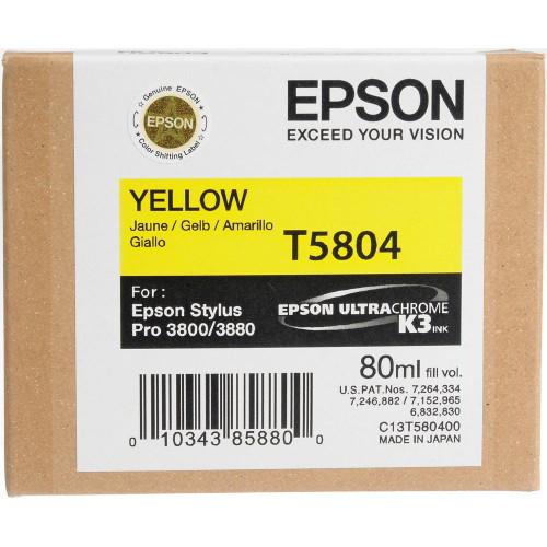 Epson T580 UltraChrome K3 Ink Cartridge 80ml- Yellow