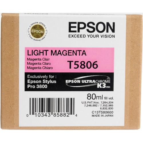 Epson T580 UltraChrome K3 Ink Cartridge 80ml- Light Magenta