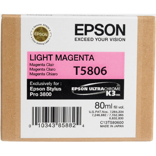 Epson T580 UltraChrome K3 Ink Cartridge 80ml- Light Magenta