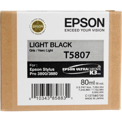 Epson T580 UltraChrome K3 Ink Cartridge 80ml- Light Black