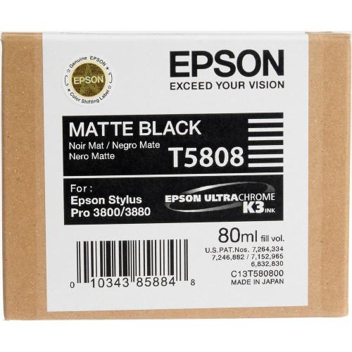 Epson T580 UltraChrome K3 Ink Cartridge 80ml- Matte Black