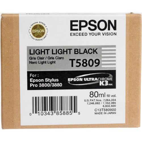 Epson T580 UltraChrome K3 Ink Cartridge 80ml- Light Light Black