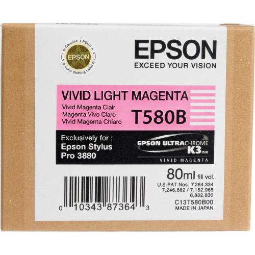 Epson T580 UltraChrome K3 Ink Cartridge 80ml- Vivid Light Magenta