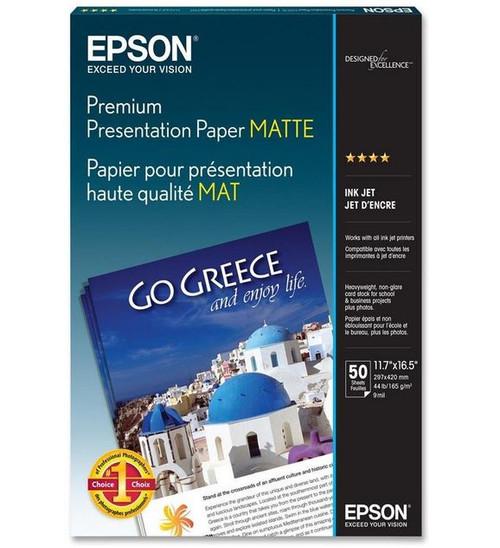 "Epson Premium Presentation Paper Matte- A3 11.7 x 16.5"", 50 Sheets"