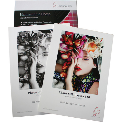 """Hahnemühle Photo Silk Baryta 310 Paper- 8.5 x 11"""", 10 Sheets"""