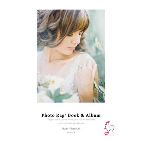 """Hahnemühle Photo Rag Book & Album Paper- Short Grain, 8.5 x 11"""", 25 Sheets"""