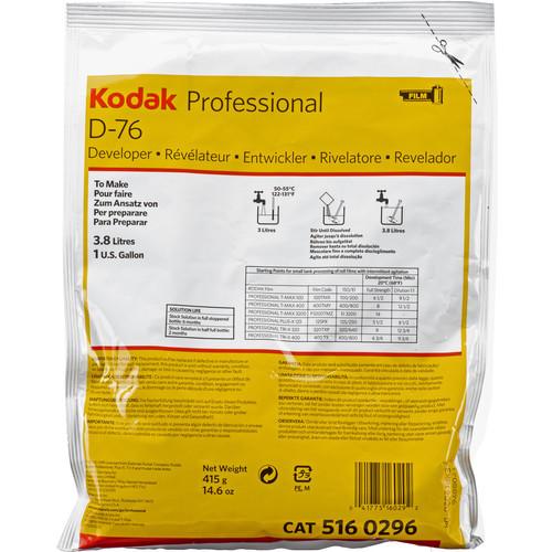 Kodak D-76 Developer (Powder) for Black & White Film- Makes 1 Gallon