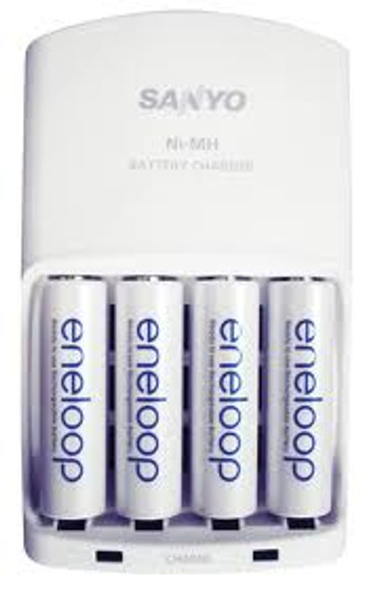 Panasonic Eneloop Rechargeable AA Ni-MH Batteries with Charger- 2000mAh, Pack of 4
