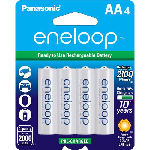 Panasonic Eneloop AA Rechargeable Ni-MH Batteries - Pack of 4