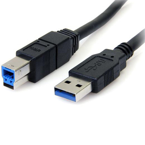 StarTech 6 ft Black SuperSpeed USB 3.0 Cable A to B - M/M