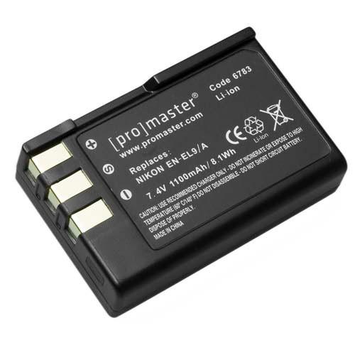 Promaster EN-EL9/A Li-Ion Battery for Nikon