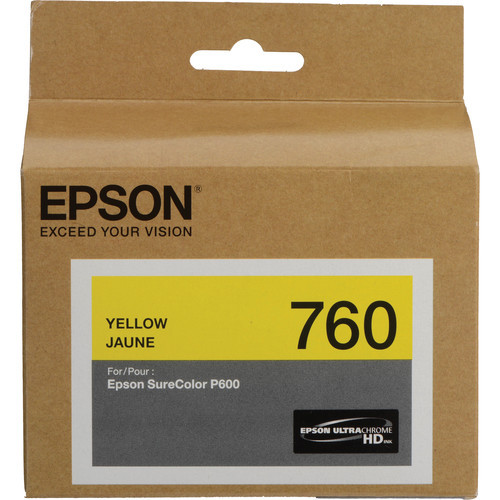 Epson T760 Ultrachrome HD Ink Cartridge- Yellow