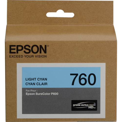 Epson T760 Ultrachrome HD Ink Cartridge- Light Cyan