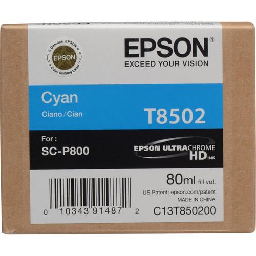 Epson T850 UltraChrome HD Ink Cartridge 80 ml- Cyan