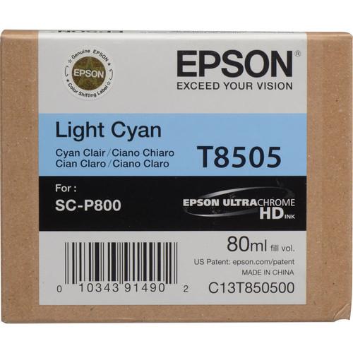 Epson T850 UltraChrome HD Ink Cartridge 80 ml- Light Cyan