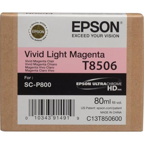 Epson T850 UltraChrome HD Ink Cartridge 80 ml- Vivid Light Magenta