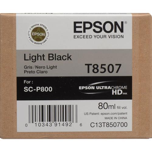 Epson T850 UltraChrome HD Ink Cartridge 80 ml- Light Black