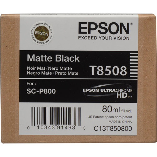 Epson T850 UltraChrome HD Ink Cartridge 80 ml- Matte Black