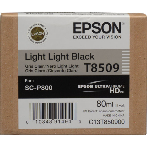 Epson T850 UltraChrome HD Ink Cartridge 80 ml- Light Light Black